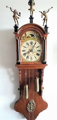 Warmink Friese Clock Tailed Vintage Chain Driven Moonphase Pendule Bell Strike