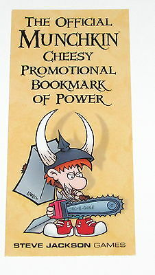 Narrow Version Official Munchkin Cheesy Promotional Bookmark of Power