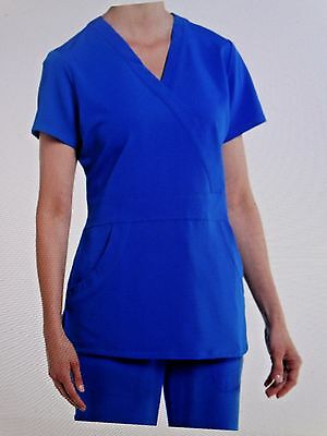 Nurse Mates Stretch Medical Scrub Set Royal 980005/980305 Medium MFSRP 50.77 New