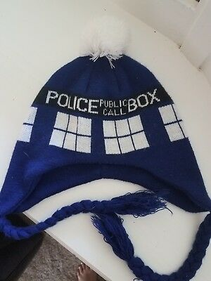 7e96e9d5f6b Dr. Doctor Who Officially Licensed Tardis Pom Beanie Hat Winter Cap Ugly  Sweater