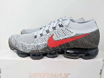 45d05bd1a27 Nike Air Vapormax Og Flyknit Pure Platinum red Size 13 Brand New (849558-