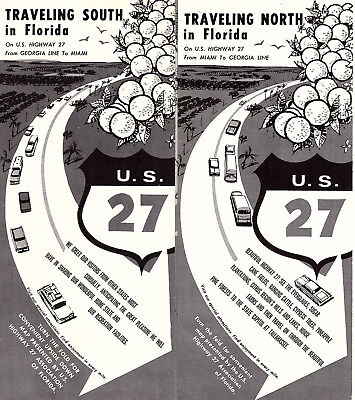 Lake Wales Florida Vintage Travel Brochure Map Points Of Interest