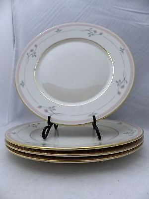 Lenox China - Rose Manor Pink - Bread & Butter Plates - set/lot of 4 - 1999
