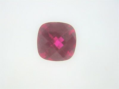 2.68ct Loose Faceted Cushion Cut Lab Created Ruby Gemstone 8 x 8mm