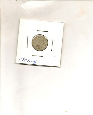 "1905-S 90% Silver Liberty ""Barber"" Head Dime Coin!"