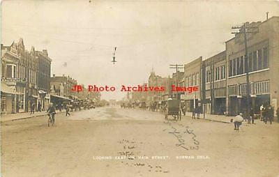 Oklahoma Ok Oklahoma City Main Street Looking East 1908 Postcard