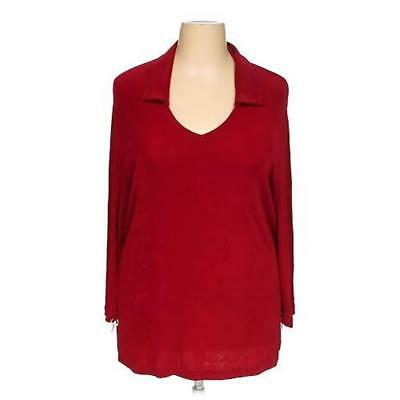 00daeaec9a5e3 MARCY ALLEN 3x RED MAROON ORIGINAL SLINKY TUNIC ACETATE SPANDEX STRETCH  TRAVEL