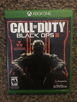 Call of Duty: Black Ops III 3 (Microsoft Xbox One, 2015) free shipping