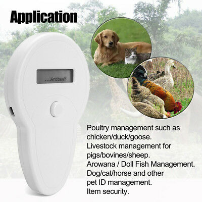 Durable RFID ISO FDX-B Animal Chip Dog Reader Microchip Handheld Pet Scanner