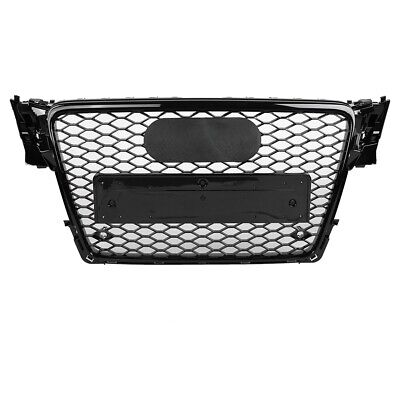 For RS4 Style Front Sport Hex Mesh Honeycomb Hood Grill for Audi A4/S4 B8 09-12