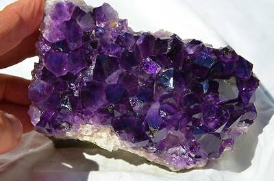 """8393 Purple Amethyst Geode Cluster Cathedral URUGUAY Free Standing 123mm 4.8"""""""