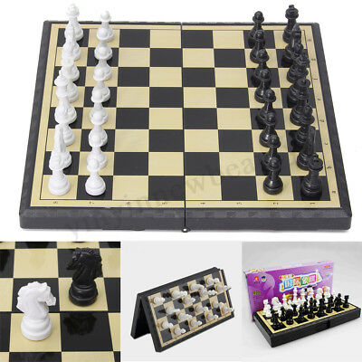 Magnetic Folding Chessboard Chess Board Box Set Portable Kids Game Toy New