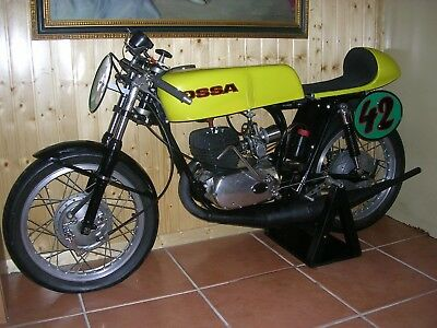 Vintage Moto Racing Motorcycle Ossa Spq 230 Engine Stiletto 250 1970 Restored