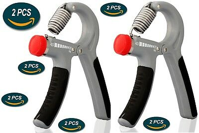 2x CellDeal Hand Power Grip Exerciser 10-40Kg Forearm Strength Training Adjustab