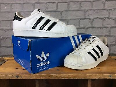 Adidas Originals Uk 5.5 Eu 38 2/3 White/black Superstar Trainers Mens Ladies