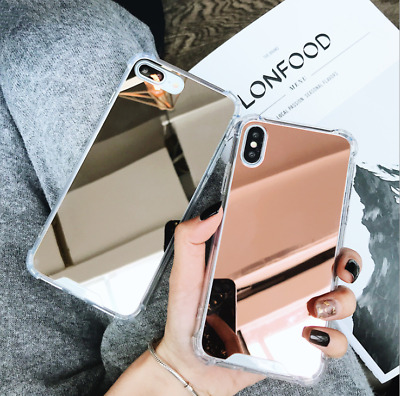 Slim Fit Aluminum Mirror Back Bumper Case Protective Covers For iPhone