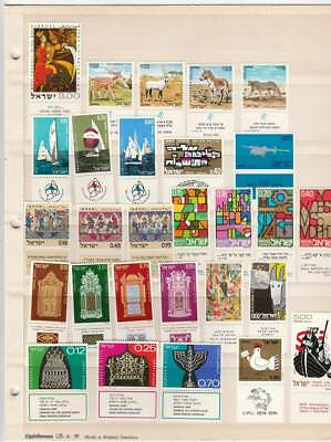 Israel Collection 1967 1980 All With Tabs Vf  Mnh, 10 Stock Pages All Different