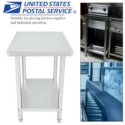 "Stainless Steel Kitchen Work Table | Commercial Restaurant Food Prep 24"" x 36"""
