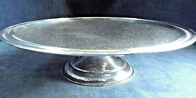 """SUPERB Large 10"""" ~ SILVER Plated ~ Cake STAND / Tazza ~ c1935 by Harriet Samuel"""