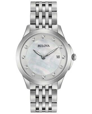 Bulova Women's Quartz Stainless Steel Casual Watch, Color:Silver-Toned 96P174