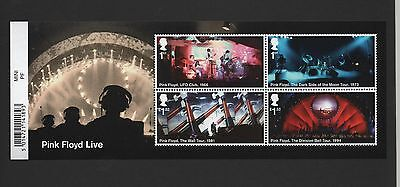 Gb 2016 Pink Floyd Miniature Stamp Sheet With Barcode