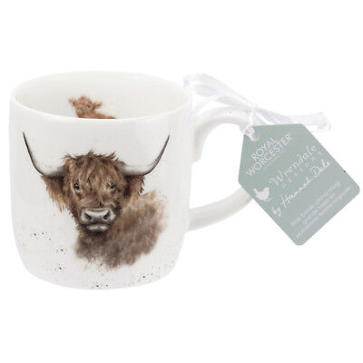 Royal Worcester Wrendale Highland Coo Cow Fine Bone China Mug