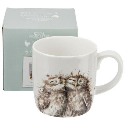 Royal Worcester Wrendale The Twits Owl Design Fine Bone China Mug