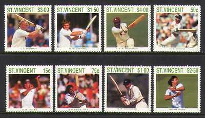 St Vincent 1988 Cricket/Sports/Cricketers/Games/People 8v set (n20413)