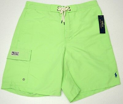 d16b310437 NWT $65 Polo Ralph Lauren Swim Suit Trunks Mens Size M L Green Board Shorts  NEW