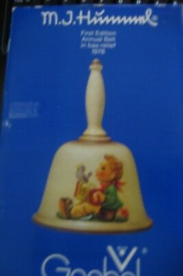 Goebel M.j. Hummel First Edition Annual Bell In Bas-Relief 1978 - In Orig Box