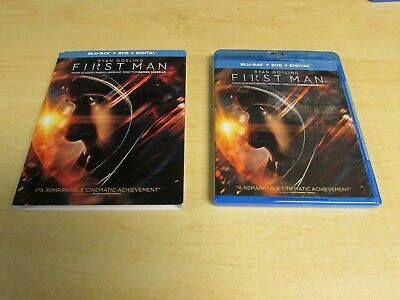 First Man Blu Ray & DVD Movie Slipcover NO DIGITAL Exc Con