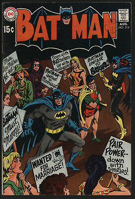 Batman 214. Batgirl And The Women'S-Libbers. Great White Pages. Original Owner.