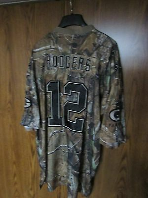 Aaron Rodgers Green Bay Packers Camouflage 2 jersey LOT size 2XL camo  Reebok NFL ad033302d
