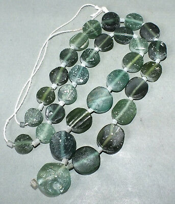 Strand Necklace Ancient Roman Glass Beads Afghanistan