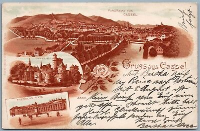 Gruss Aus Cassel Germany Undivided 1899 Antique Postcard