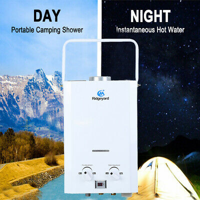 Liquefied Gas Hot Water Heater Portable Shower Camping LPG Outdoor Instant Carav