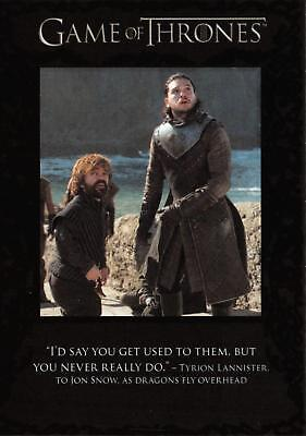 Game of Thrones Season 7 (2018) THE QUOTABLE Trading Card Insert Q63