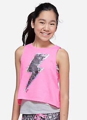 Justice 2fer Tank and Sports Bra Combo NWT Gymnastics or Dance Size 18 or 20