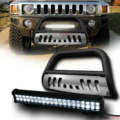 Topline For 2009-2018 Dodge Ram 1500 Stainless Bull Guard With 120W CREE LED Bar