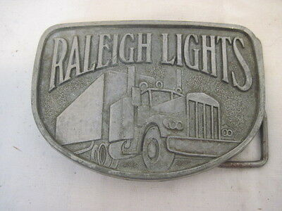 Old Raleigh Lights Semi Truck Belt Buckle Clothing