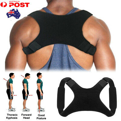 Adjustable Therapy Posture Corrector Clavicle Back Support Brace Belt Straps A25