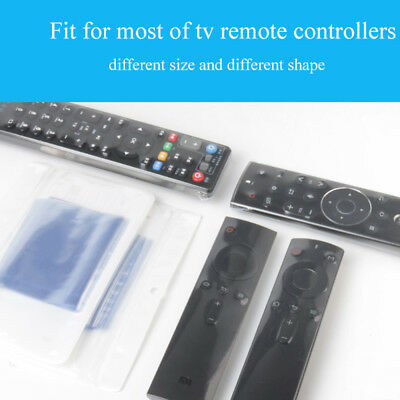 10PCS Heat Shrink Film TV Remote Control Case Cover Air Condition Anti-dust Bags