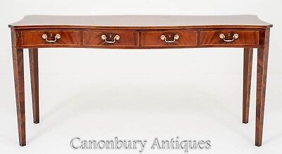 Mahogany Serpentine Console Table - Centre Tables