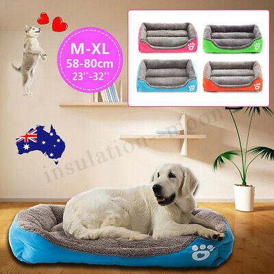 Large Pet Dog Cat Bed Puppy Cushion House-Soft Warm Kennel Mat Blanket Washable