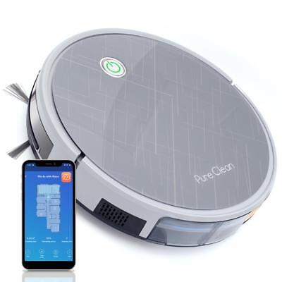 Pure Clean Smart Robot Vacuum Cleaner -Powerful Cleaning w/ App & Remote Control
