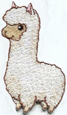 Alpaca animal wildlife llama diy embroidered applique iron-on patch S-1598