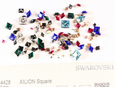 Genuine SWAROVSKI 4428 XILION Square Fancy Stones Crystals * Many Colors & Sizes