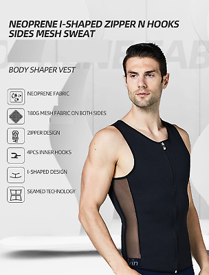 Men Slimming Neoprene Vest Sauna Sweat Body Shaper Sports Vest