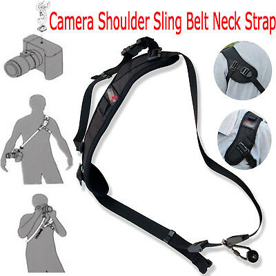 Quick Rapid Sigal Camera Shoulder Sling Belt Neck Strap For Nikon Canon DSLR SLR