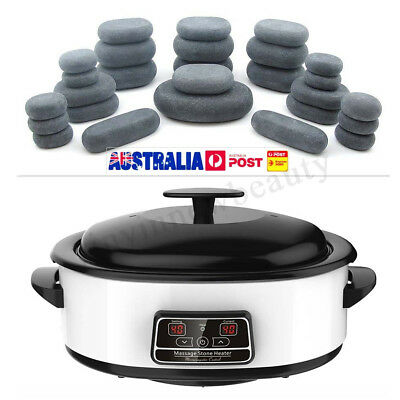 Hot Stone Heater Kit SET HOT POT WARMER CASE MASSAGE OIL MASSAGE TABLE HOME USE